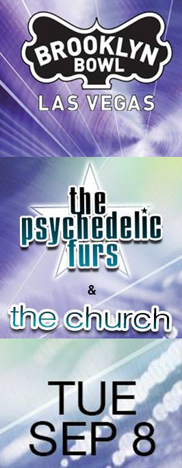 The Psychedelic Furs / The Church vertical promo ad