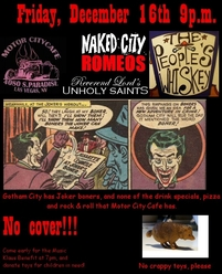 Naked City Romeos flyer