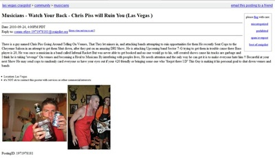 Chris Piss Craigslist Ad