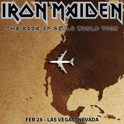 Iron Maiden Plane Tour poster
