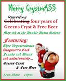 Geezus Cryst & Free Beer flyer