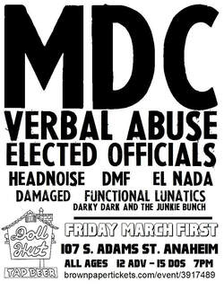 MDC / Headnoise Doll Hut flyer