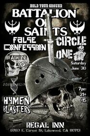 Battalion Of Saints / Headnoise flyer