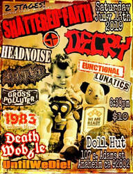 Shattered Faith / Decry / Headnoise flyer