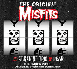 Misfits MGM Grand Garden Arena slot machine flyer